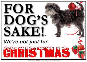 For Dogs Sake! Download Default Title Affenpinscher Christmas Message (Download)