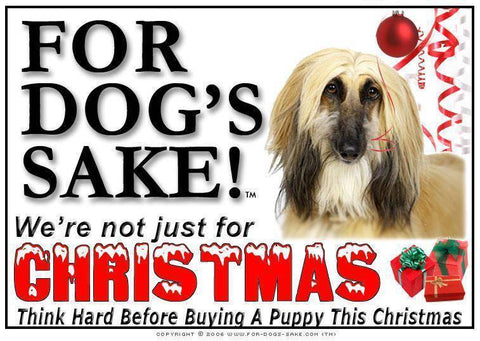 For Dogs Sake! Download Default Title Afghan Hound Christmas Message (Download)