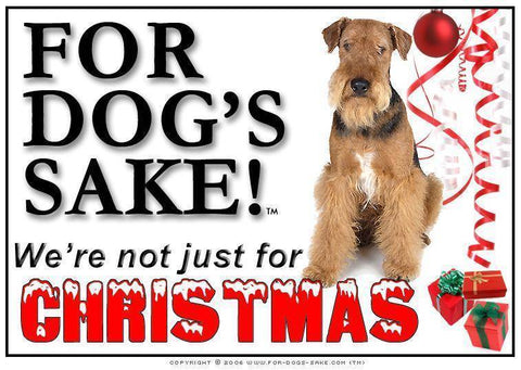 For Dogs Sake! Download Default Title Airedale Terrier Christmas Message (Download)