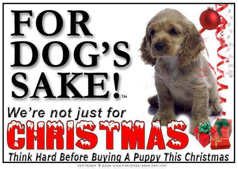 For Dogs Sake! Download Default Title American Cocker Spaniel Christmas Message (Download)