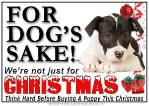 For Dogs Sake! Download Default Title American Staffordshire Bull Terrier Christmas Message (Download)