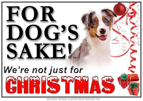 For Dogs Sake! Download Default Title Australian Shepherd Christmas Message (Download)