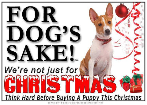 For Dogs Sake! Download Default Title Basenji Christmas Message (Download)