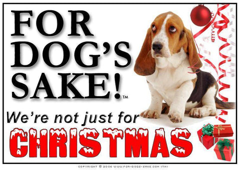 For Dogs Sake! Download Default Title Basset Hound Christmas Message (Download)