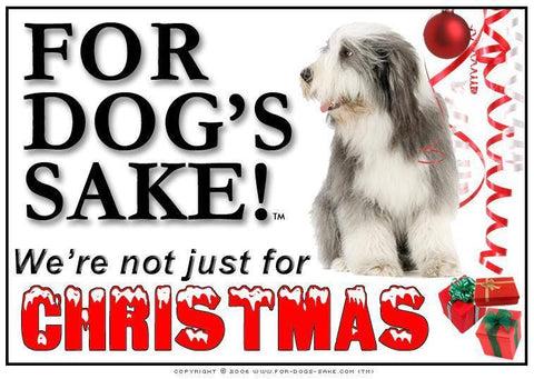 For Dogs Sake! Download Default Title Bearded Collie Christmas Message (Download)