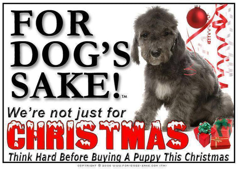For Dogs Sake! Download Default Title Bedlington Terrier Christmas Message (Download)