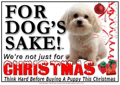 For Dogs Sake! Download Default Title Bichon Frise Christmas Message (Download)