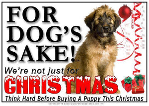 For Dogs Sake! Download Default Title Briard Dog Christmas Message (Download)