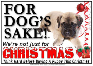 For Dogs Sake! Download Default Title Bull Mastiff Christmas Message (Download)