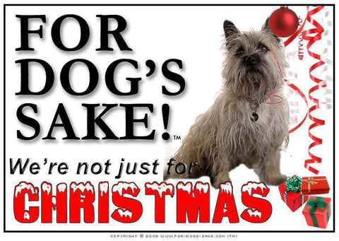 For Dogs Sake! Download Default Title Cairn Terrier Christmas Message (Download)