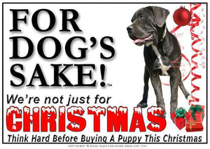 For Dogs Sake! Download Default Title Cane Corso Mastiff Christmas Message (Download)