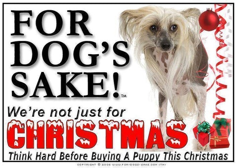 For Dogs Sake! Download Default Title Chinese Crested Christmas Message (Download)