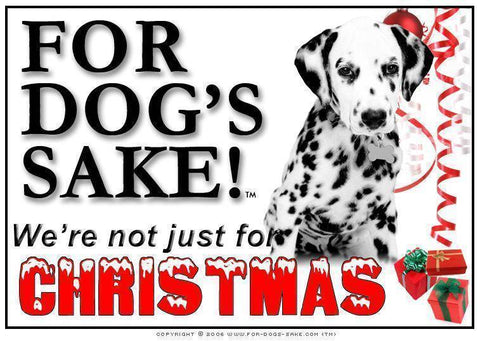 For Dogs Sake! Download Default Title Dalmatian Christmas Message (Download)