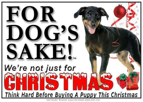 For Dogs Sake! Download Default Title Doberman Pinscher Christmas Message (Download)