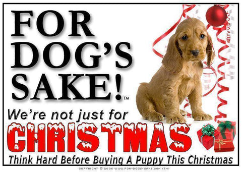 For Dogs Sake! Download Default Title English Cocker Spaniel Christmas Message (Download)