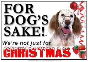 For Dogs Sake! Download Default Title English Setter Christmas Message (Download)