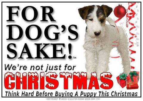 For Dogs Sake! Download Default Title Fox Terrier Christmas Message (Download)