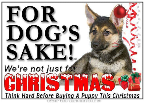 For Dogs Sake! Download Default Title German Shepherd Christmas Message (Download)