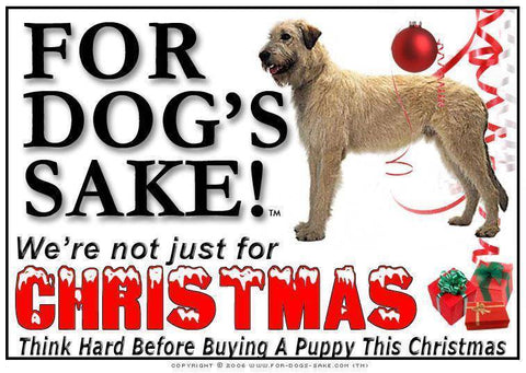 For Dogs Sake! Download Default Title Irish Wolfhound Christmas Message (Download)