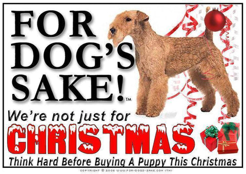 For Dogs Sake! Download Default Title Lakeland Terrier Christmas Message (Download)