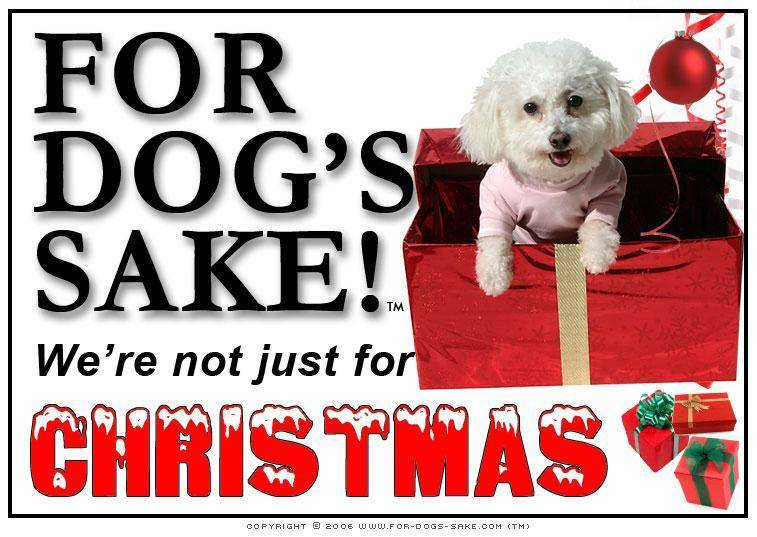 For Dogs Sake! Download Default Title Maltese Dog Christmas Message (Download)