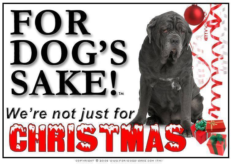 For Dogs Sake! Download Default Title Neopolitan Mastiff Christmas Message (Download)