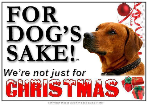 For Dogs Sake! Download Default Title Rhodesian Ridgeback Christmas Message (Download)