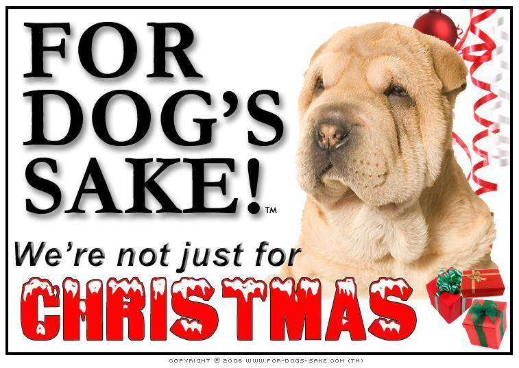 For Dogs Sake! Download Default Title Chinese Shar-Pei Christmas Message (Download)