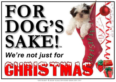 For Dogs Sake! Download Default Title Shih Tzu Dog Christmas Message (Download)