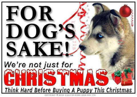 For Dogs Sake! Download Default Title Siberian Husky Christmas Message (Download)