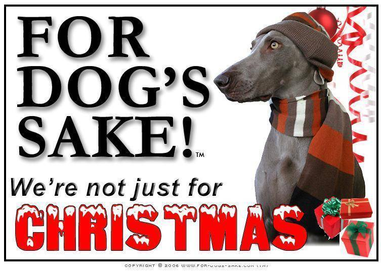 For Dogs Sake! Download Default Title Weimaraner Christmas Message (Download)