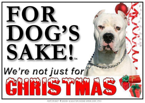 For Dogs Sake! Download Default Title Dogo Argentino Christmas Message (Download)