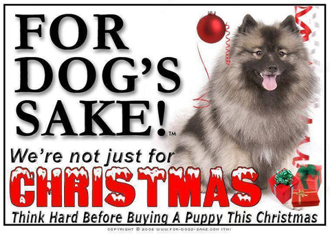 For Dogs Sake! Download Default Title Keeshond Christmas Message (Download)