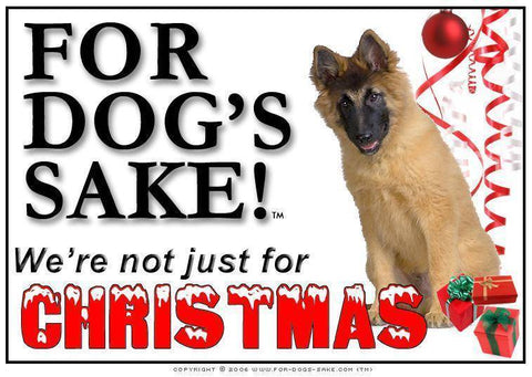 For Dogs Sake! Download Default Title Belgian Tervuren Christmas Message (Download)