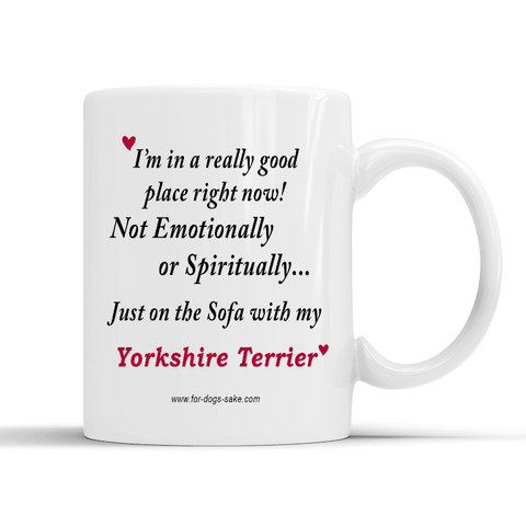 For Dogs Sake! Default Title Yorkshire Terrier White Glossy Mug