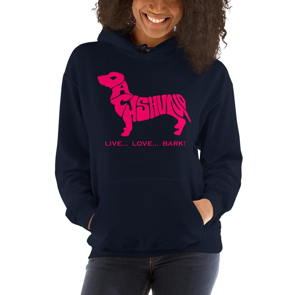 For Dogs Sake! Navy / S Dachshund Hoodie by For Dog's Sake!®