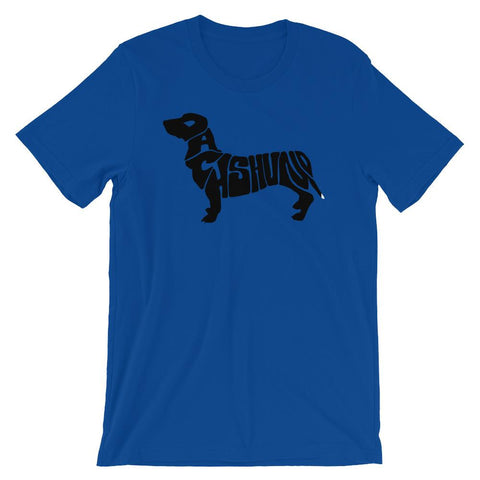 For Dogs Sake! True Royal / S Dachshund Short-Sleeve T-Shirt by For Dog's Sake!®