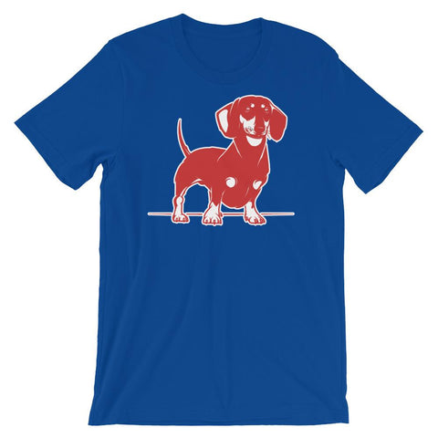 For Dogs Sake! True Royal / S Mini Dachshund T-Shirt by  For Dog's Sake!®