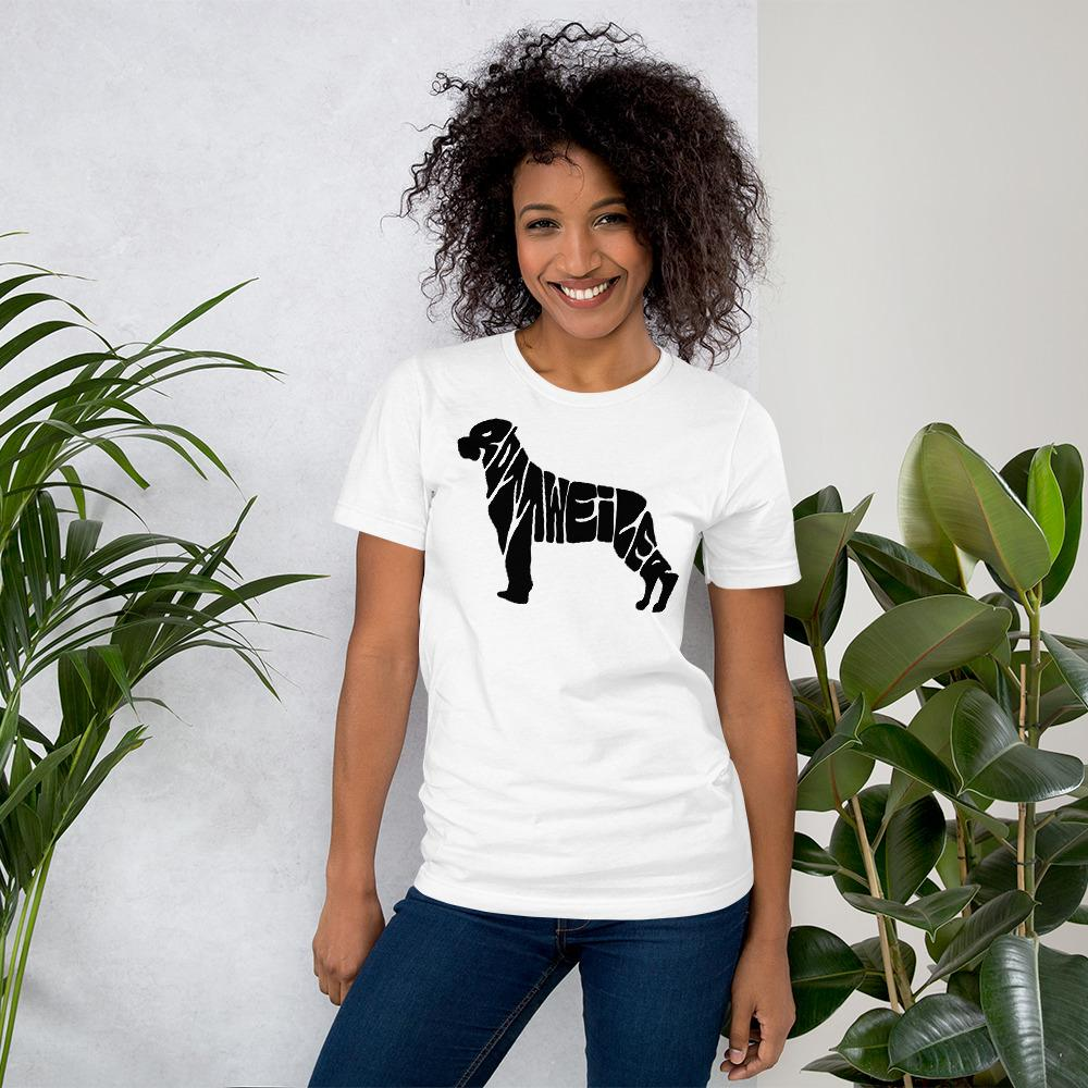 For Dogs Sake! White / XS Rottweiler T-Shirt by For Dog's Sake!®