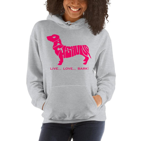 Image of For Dogs Sake! Sport Grey / S Dachshund Hoodie by For Dog's Sake!®