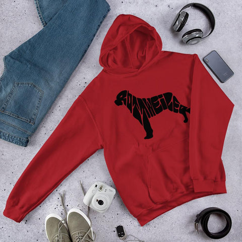 For Dogs Sake! Red / S Hooded Sweatshirt by For Dog's Sake!®