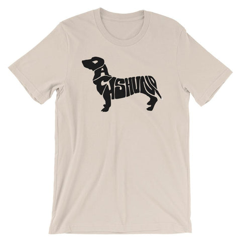 For Dogs Sake! Soft Cream / S Dachshund Short-Sleeve T-Shirt by For Dog's Sake!®
