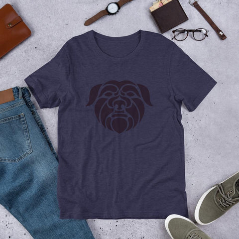 Image of For Dogs Sake! Heather Midnight Navy / XS Affenpinscher Short-Sleeve Unisex T-Shirt