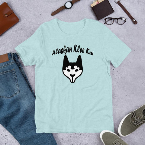 Image of For Dogs Sake! Heather Prism Ice Blue / XS Alaskan Klee Kai Short-Sleeve Unisex T-Shirt by For Dog's Sake!®
