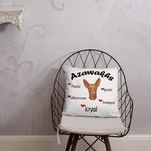 For Dogs Sake! Azawakh Black Playful & Loyal Throw Pillow