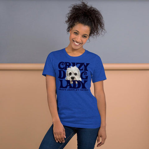 For Dogs Sake! Heather True Royal / S Dandie Dinmont Terrier Crazy Dog Lady T-Shirt