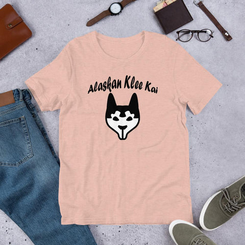 Image of For Dogs Sake! Heather Prism Peach / XS Alaskan Klee Kai Short-Sleeve Unisex T-Shirt by For Dog's Sake!®