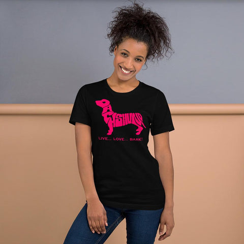 For Dogs Sake! Black / XS Dachshund Short-Sleeve T-Shirt by For Dog's Sake!®
