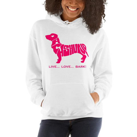 Image of For Dogs Sake! White / S Dachshund Hoodie by For Dog's Sake!®