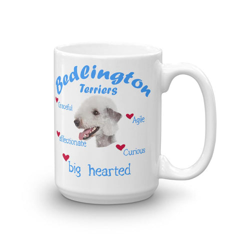 For Dogs Sake! 15oz Bedlington Terrier Blue Big Hearted & Affectionate Mug